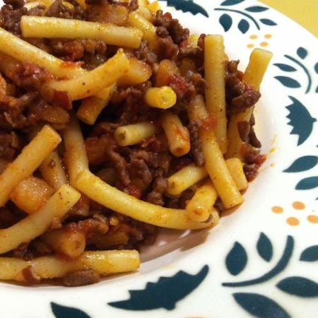 Maccheroni mit Pastinakenbolognese