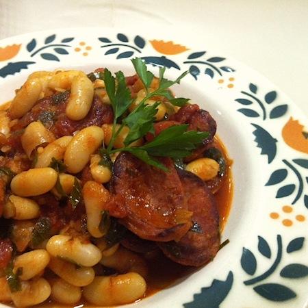 Cannellini mit Chorizo