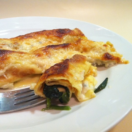 Crespelle mit Bärlauch und Gorgonzola