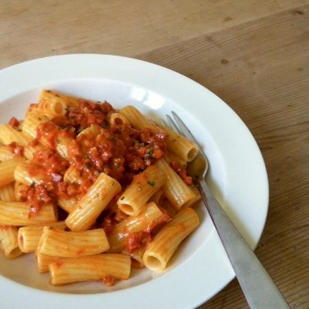 Rigatoni mit Chorizo-Rosmarinsauce