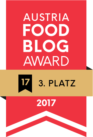 Austria Food Blog Award 2017 - 3. Platz